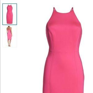 Chelsea28 Pink Scuba Sheath Dress